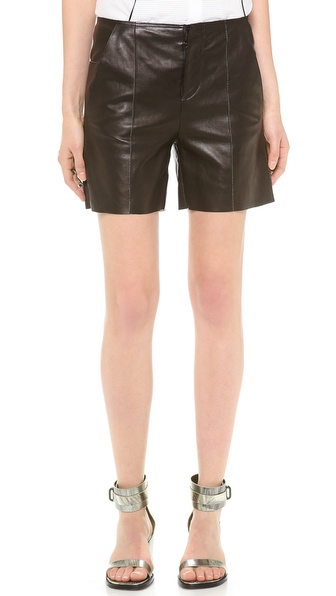 MM6 Maison Martin Margiela Leather Shorts