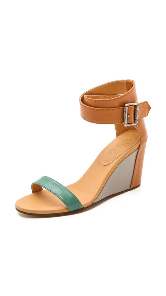 MM6 Maison Martin Margiela Colorblock Wedge Sandals