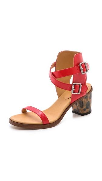MM6 Maison Martin Margiela Leopard Heel Sandals