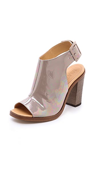 MM6 Maison Martin Margiela Open Toe Booties