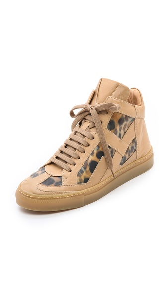 MM6 Maison Martin Margiela Leopard High Top Sneakers