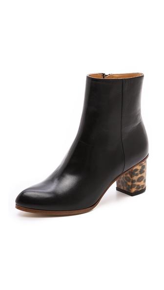 MM6 Maison Martin Margiela Leopard Heel Booties