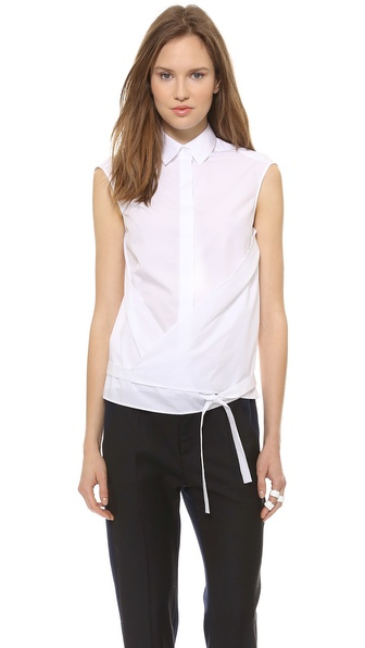 MM6 Maison Martin Margiela Cross Front Button Down