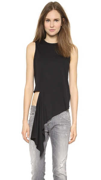 MM6 Maison Martin Margiela Asymmetrical Torn Top