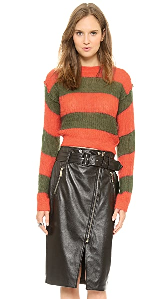 MM6 Striped Sweater
