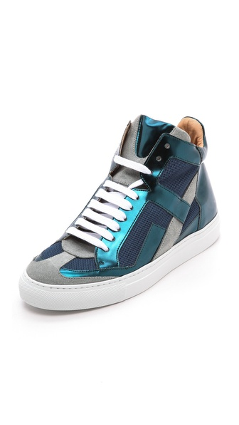 MM6 Maison Martin Margiela Mirrored High Top Sneakers