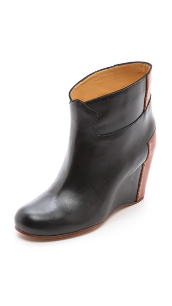 MM6 Maison Martin Margiela Colorblock Wedge Booties