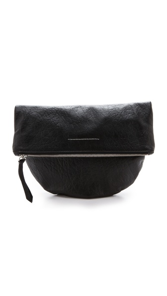 MM6 Maison Martin Margiela Clutch with Flap Closure