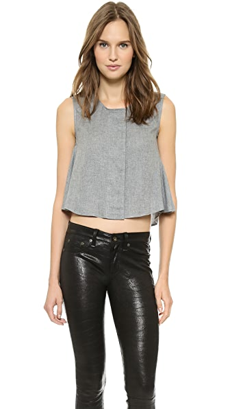 MM6 Flared Crop Top