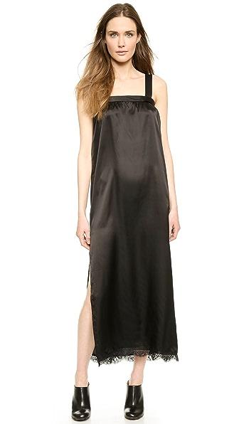 Maison Martin Margiela Maison Martin Margiela Draped Satin Tank Dress (Black)