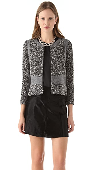 Michael Angel Cropped Paneled Jacket