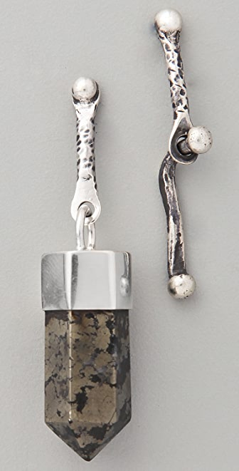 Mania Mania Delta of Venus Pyrite Earrings