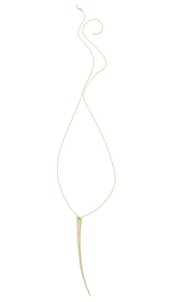 Mara Carrizo Scalise Brass Horn Necklace