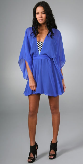 Mara Hoffman Beaded Mini Kimono Dress