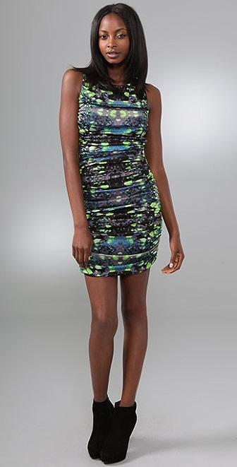Mara Hoffman Print Ruched Open Back Dress