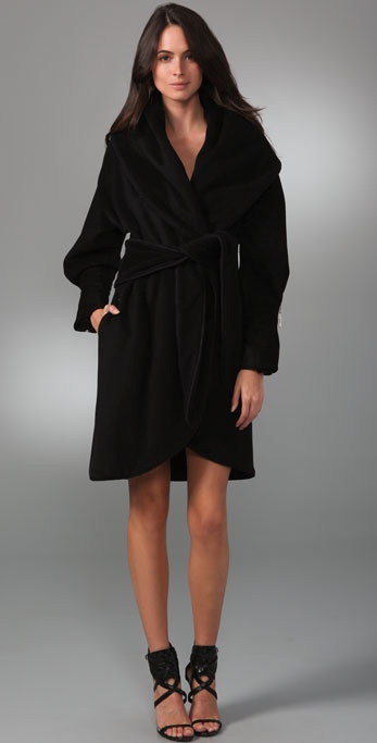 Mara Hoffman Shawl Coat with Zip Cuffs