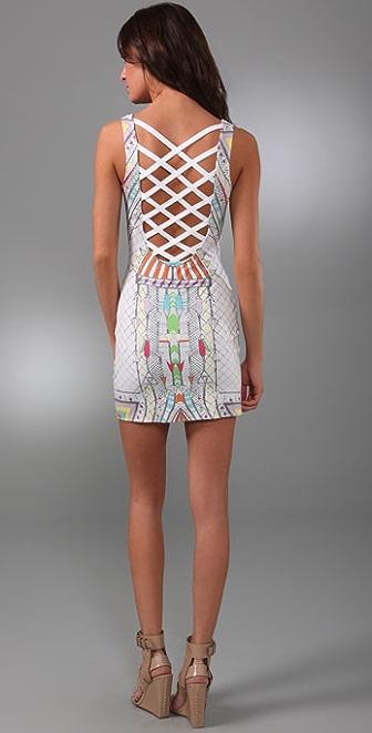 Mara Hoffman Lattice Back Cover Up Dress