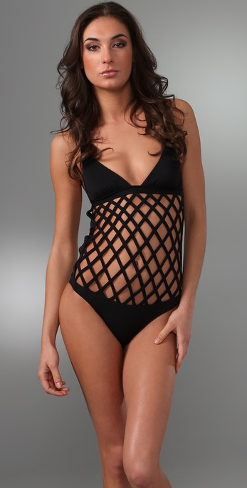 Mara Hoffman Fishnet One Piece