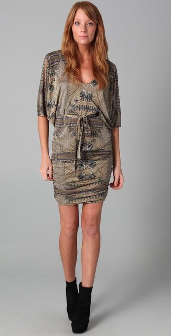 Mara Hoffman Poncho Overlay Ruched Dress