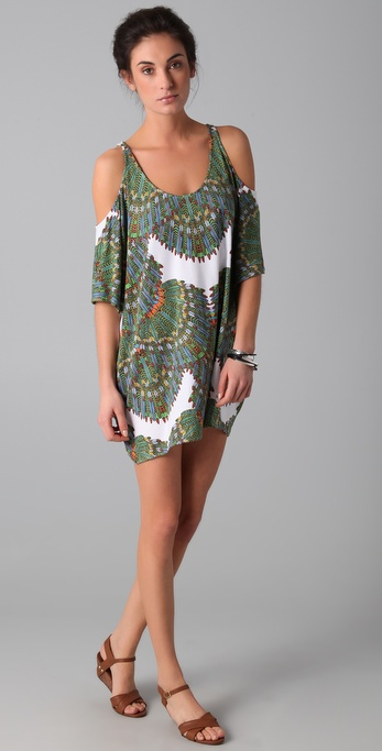 Mara Hoffman Cutout Shoulder Dress