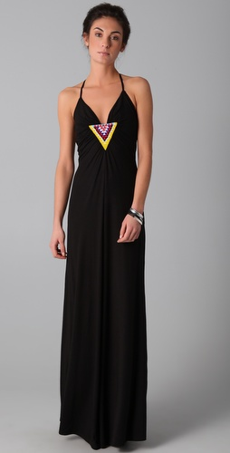 Mara Hoffman Beaded Ray Back Maxi Dress