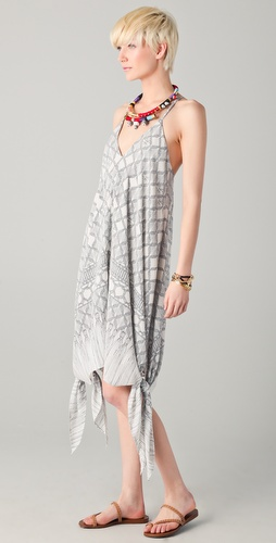 Mara Hoffman Knotted Hem Sun Dress