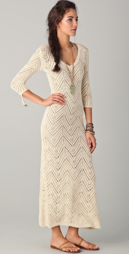Mara Hoffman Long Crochet Dress