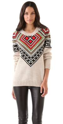 Mara Hoffman Intarsia Pullover