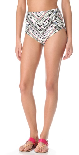 Shop Mara Hoffman Nomad High Waisted Bikini Bottoms and Mara Hoffman online - Apparel, Womens, Swim, Swim,  online Store