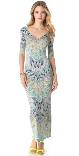 Mara Hoffman Feather Crisscross Cover Up Dress