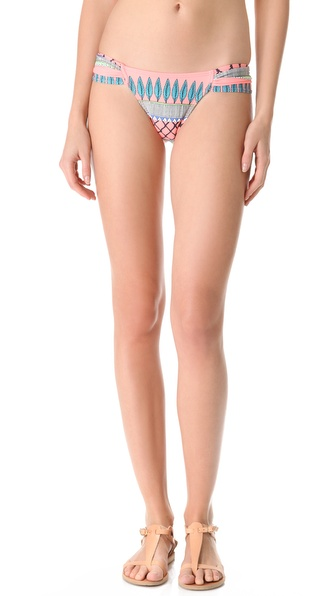 Mara Hoffman Frida Ruched Bikini Bottoms