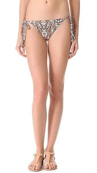 Mara Hoffman Snake Braided Tie Bikini Bottoms