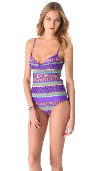 Mara Hoffman Frida Lattice One Piece