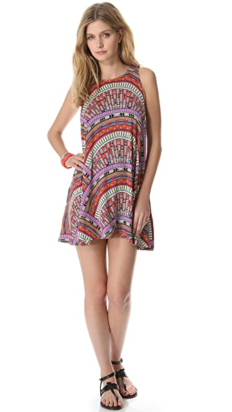 Mara Hoffman Rainbow Mini Cover Up Dress
