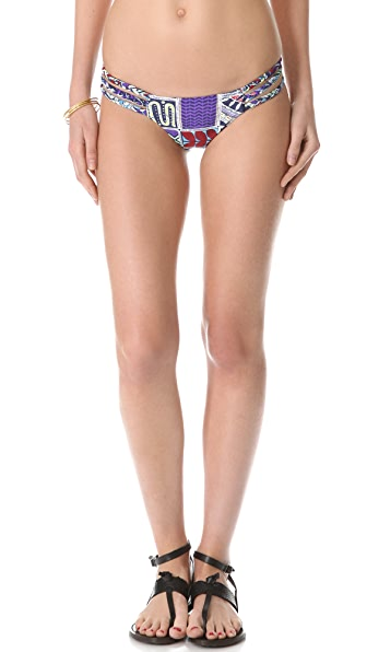 Mara Hoffman Quilts Braided 3 Strap Bikini Bottoms
