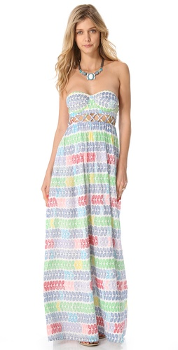 Shop Mara Hoffman Leis Lattice Cover Up Maxi Dress and Mara Hoffman online - Apparel, Womens, Swim, Coverups,  online Store