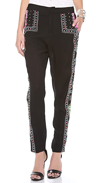 Mara Hoffman Embroidered Pants