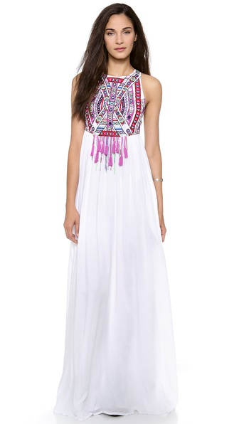 Mara Hoffman Mirror Embroidery Maxi Dress