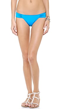 Mara Hoffman Ananda Ruched Side Bikini Bottoms