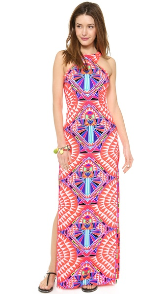 Mara Hoffman High Neck Column Maxi Dress