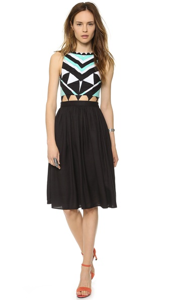 Mara Hoffman Gathered Waist Dress