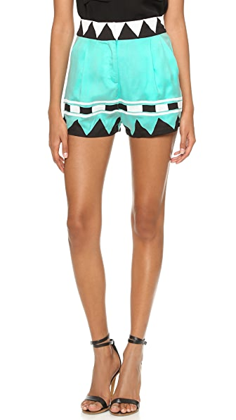 Mara Hoffman Geo Highwaisted Shorts