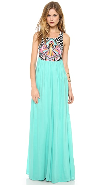 Mara Hoffman Cosmic Fountain Embroidered Maxi Dress