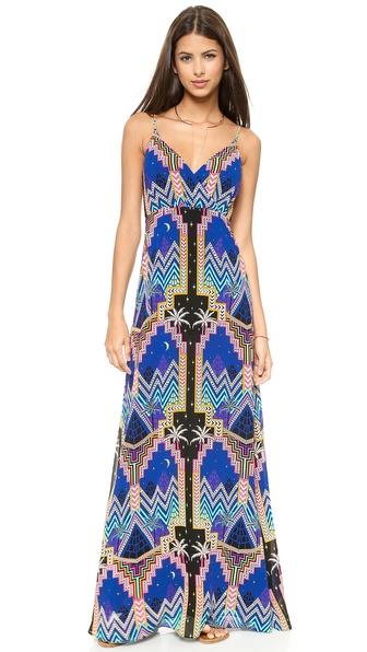 Shop Mara Hoffman online and buy Mara Hoffman Crossover Slip Gown Pyramid Night Navy online