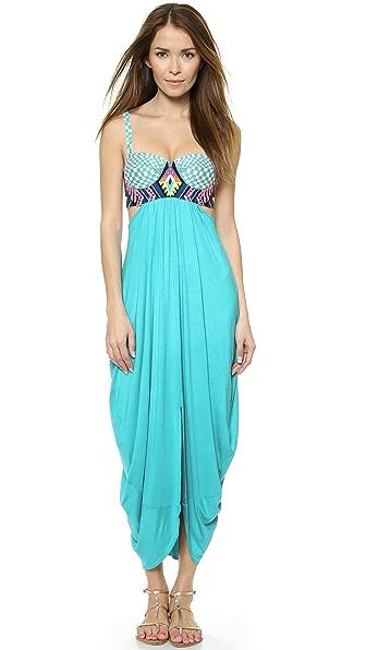 Mara Hoffman Mara Hoffman Embroidered Maxi Dress (Turquoise)