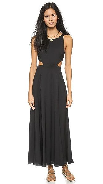 Mara Hoffman Solid Cutout Dress - Black