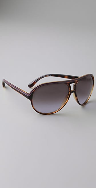 Marc by Marc Jacobs Plastic Aviator Sunglasses