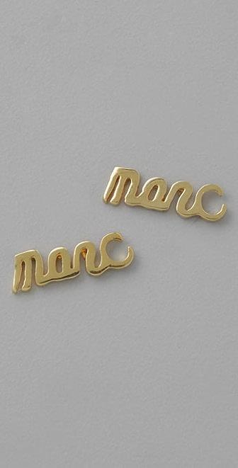 Marc by Marc Jacobs Marc Script Stud Earrings