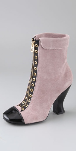 Marc by Marc Jacobs Cuffed Suede Booties