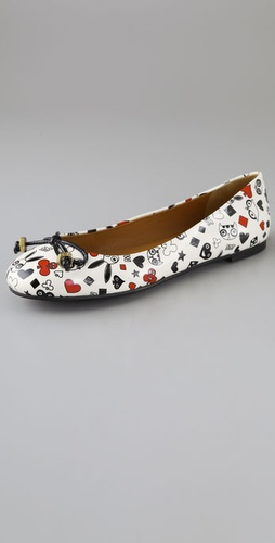 Marc by Marc Jacobs Patent Marc By Marc Cards Flats